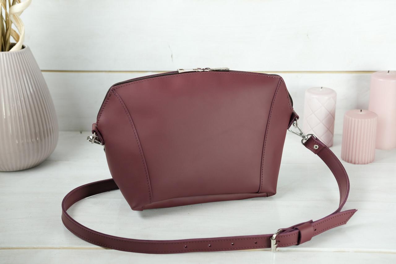 Сумка жіноча. Шкіряна сумочка Майя, шкіра Grand, колір Бордо