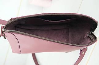 Сумка жіноча. Шкіряна сумочка Майя, шкіра Grand, колір Бордо, фото 3