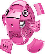 Geomag KOR Pantone Pink | Магнітний конструктор Геомаг Кор рожевий, фото 7