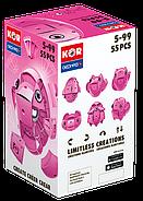 Geomag KOR Pantone Pink | Магнітний конструктор Геомаг Кор рожевий, фото 9