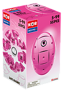 Geomag KOR Pantone Pink | Магнітний конструктор Геомаг Кор рожевий, фото 10