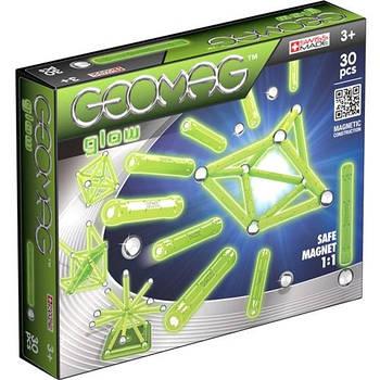 Geomag Glow 30 деталей | Світиться магнітний конструктор Геомаг