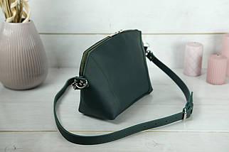 Сумка жіноча. Шкіряна сумочка Майя, шкіра Grand, колір Зелений, фото 2