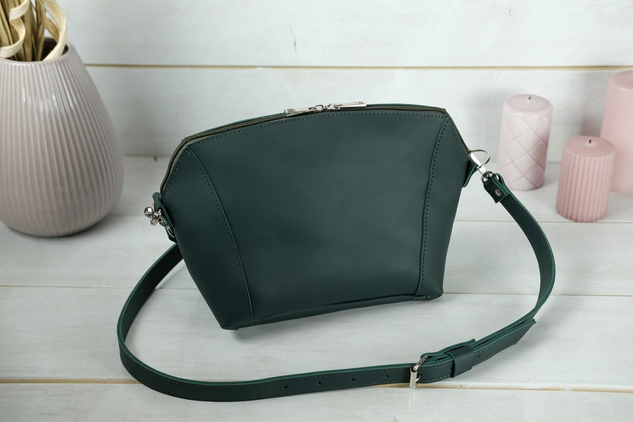 Сумка жіноча. Шкіряна сумочка Майя, шкіра Grand, колір Зелений