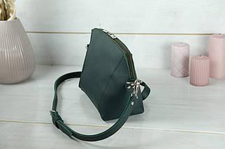 Сумка жіноча. Шкіряна сумочка Майя, шкіра Grand, колір Зелений, фото 3