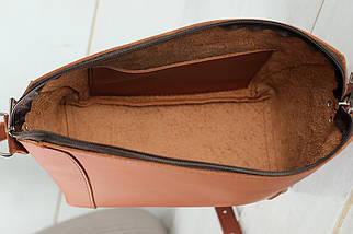 Сумка женская. Кожаная сумочка Майя, кожа Grand, цвет Коньяк, фото 3