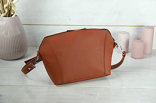 Сумка женская. Кожаная сумочка Майя, кожа Grand, цвет Коньяк, фото 2