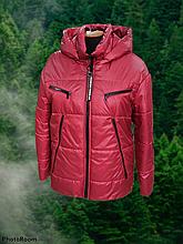 Стильна жіноча демісезонна коротка куртка SK-28, червона