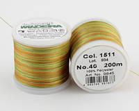 1511/9845 Polyneon №40 высокопрочная вышивальная нить, 100% полиэстер, 400 м