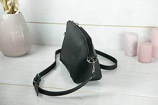 Сумка жіноча. Шкіряна сумочка Майя, шкіра Grand, колір Чорний, фото 3