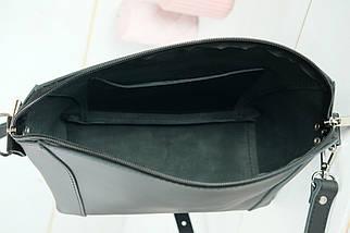 Сумка женская. Кожаная сумочка Майя, кожа Grand, цвет Черный, фото 3