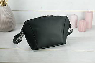 Сумка жіноча. Шкіряна сумочка Майя, шкіра Grand, колір Чорний, фото 2