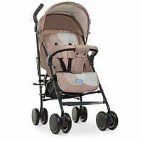 Легкая прогулочная коляска-трость бежевая Детская прогулочная коляска от 6-ти месяцев Коляска трость детская