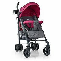 Прогулочная детская коляска трость розовая Компактная коляска для прогулок Коляска прогулочная для девочки