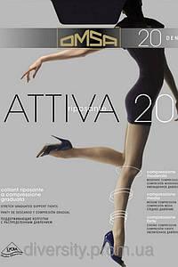 Классические колготки Attiva 20 den -шортики,ластовица