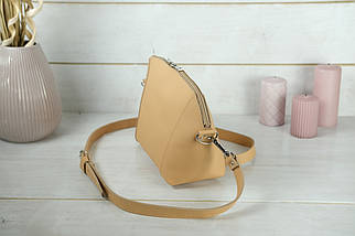 Сумка жіноча. Шкіряна сумочка Майя, шкіра Grand, колір Бежевий, фото 3