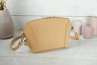 Сумка жіноча. Шкіряна сумочка Майя, шкіра Grand, колір Бежевий, фото 2
