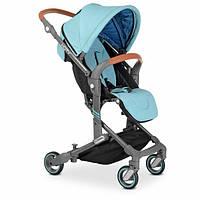 Коляска прогулка голубая для мальчика Детская прогулочная коляска Коляска прогулочная для деток с рождения