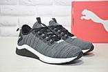 Сірі чоловічі легкі кросівки Puma, фото 2