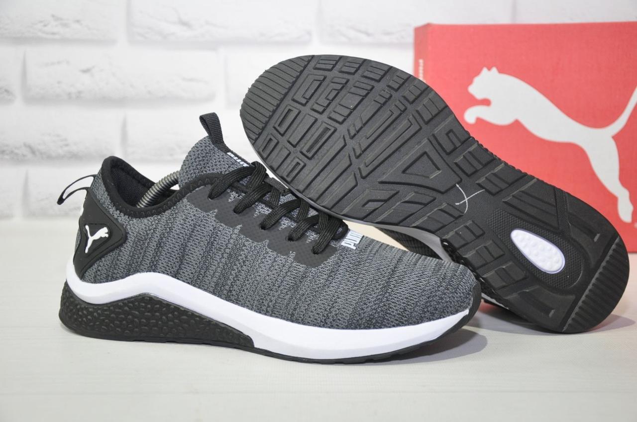 Сірі чоловічі легкі кросівки Puma