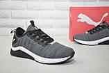 Сірі чоловічі легкі кросівки Puma, фото 4