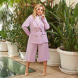 Женский костюм деловой с укороченными брюками, фото 7