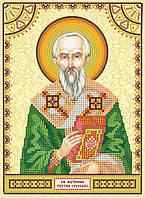 Схема для вышивки бисером икона Святой Рустик (Руслан)