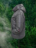 Стильна жіноча демісезонна коротка куртка SK-28, капучіно, фото 4