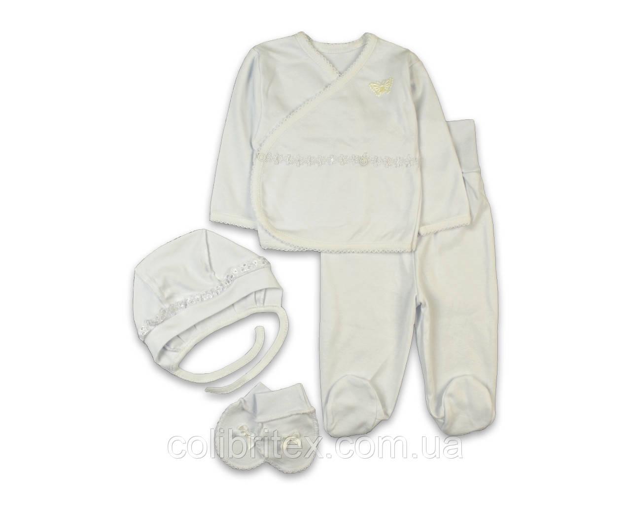 Комплект для новорожденной девочки (интерлок)
