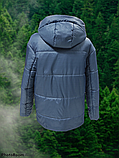 Стильна жіноча демісезонна коротка куртка SK-28, синя, фото 2