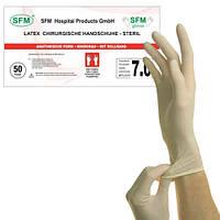 Перчатки хирургические латексные стерильные SFM, неопудренные