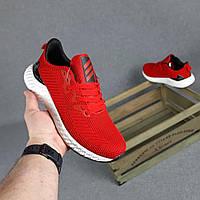 Мужские кроссовки Adidas (красные) O10438 легкие демисезонные кроссы на пене для парней
