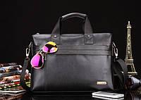 Мужская повседневная офисная кожаная сумка портфель POLO Бизнес сумка