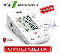 Тонометр вега автомат VEGA va-340 + сетевой адаптер+манжета Lux 22-42см.