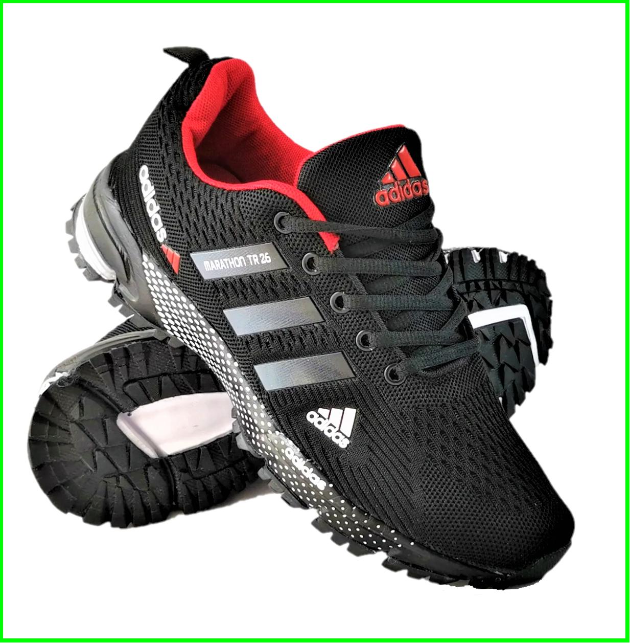 Мужские Кроссовки Adidas Fast Marathon Чёрные Адидас (размеры: 44) Видео Обзор