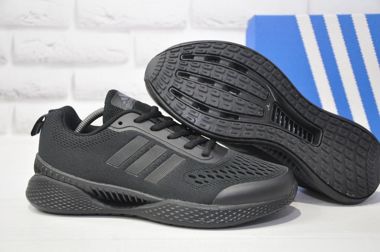 Мужские дышащие кроссовки черные сетка в стиле Adidas Climacool