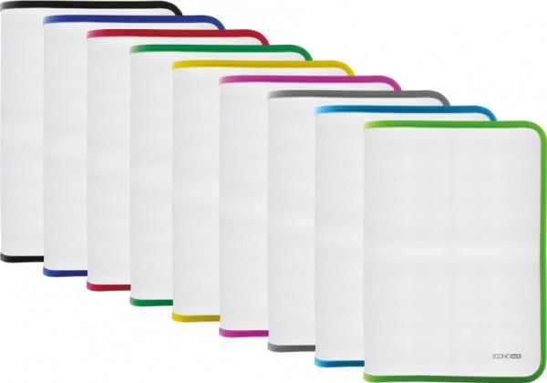 Папка-пенал пластикова на блискавці В5, фактура: тканина, асорті(E31645-99)