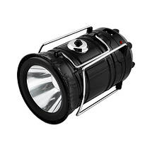 Ліхтар кемпінг 5700T 5LED+1W, сонячна батарея, ЗУ 220V, вбудований акумулятор, power bank, фото 3