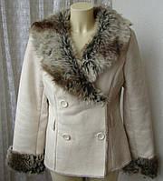 Дубленка женская искусственная нарядная бренд Xanaka р.46-48 4574