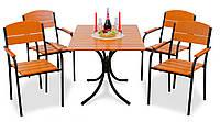 """Комплект меблів для літніх кафе """"Феліція"""" стіл (120*80) + 4 стільця Твк, фото 1"""