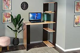 Стол компьютерный с этажеркой для книг СК-6 Микс мебель, цвет Сонома+Венге
