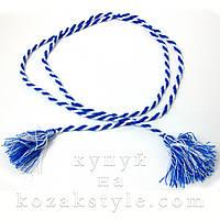 Пояс до вишиванки блакитно-білий