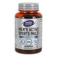 Комплекс витаминов для мужчин, Mens Active Sports Multi Now Foods, 90 softgel