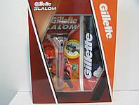Набор Gillette Slalom Станок + 1 кассета+  Пена Regular 200мл, фото 1