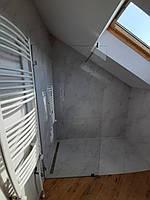 Душевая перегородка из закаленного стекла 8 мм прозрачная 90 * 200 см на поддон на пол