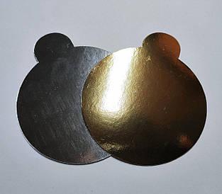 Підкладки для торта золото-срібло d 9 см (50 шт)