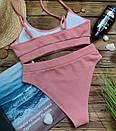 Жіночий купальник топ персиковий лакоста, фото 6