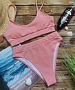 Жіночий купальник топ персиковий лакоста, фото 5