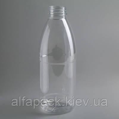 Бутылка без крышки прозрачная 1л горло 28мм, упаковка 126 шт, (2,81 грн/шт)