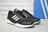 Мужские дышащие кроссовки черные на белой подошве в стиле Adidas Climacool, фото 3